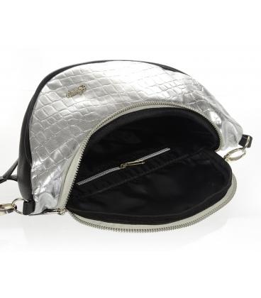 Ezüst kereszttestű ladvinka fekete szegéllyel 20M008