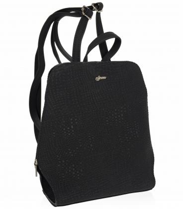 Černý elegantní batoh 20B001