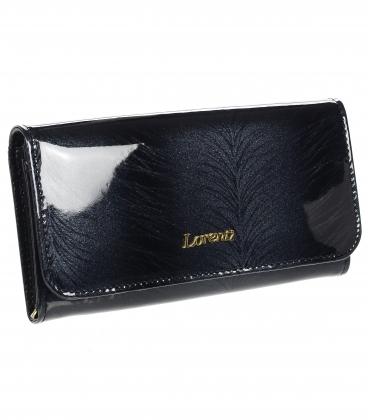 Női bordó lakkozott pénztárca a GREGORIO minta finom lépcsőjével