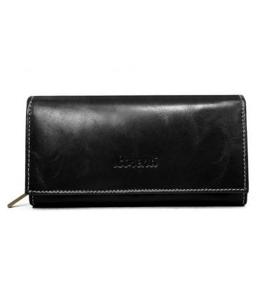 Dámská černá matná peněženka s jemným prošíváním Lorente