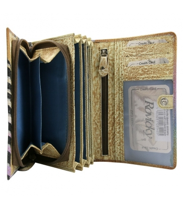 Dámska farebná peňaženka s tropickou potlačou ROVICKY