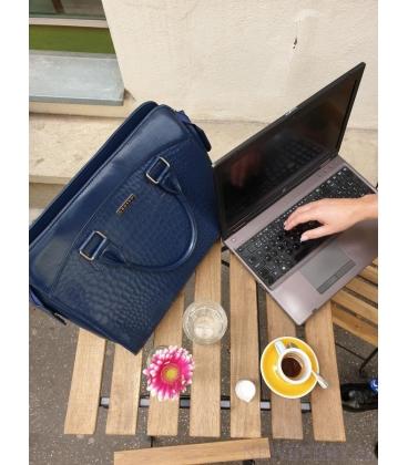 """Čierna taška na """"15,6"""" notebook ST01 s potlačou - Grosso"""