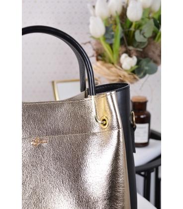 Čierno zlatá elegantná kabelka V18SM085GLD- GROSSO