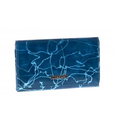 Dámska modrá vzorovaná peňaženka LORENTI