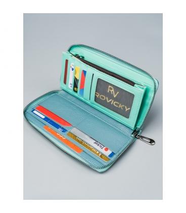Dámska tyrkysková peňaženka so vzorom CAVALDI