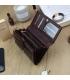 Dámska bordovo-hnedá lakovaná peňaženka so vzorom GREGORIO