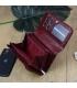 Dámska tmavo červená lakovaná peňaženka so vzorom GREGORIO