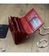 Dámska sýto červená lakovaná peňaženka GREGORIO