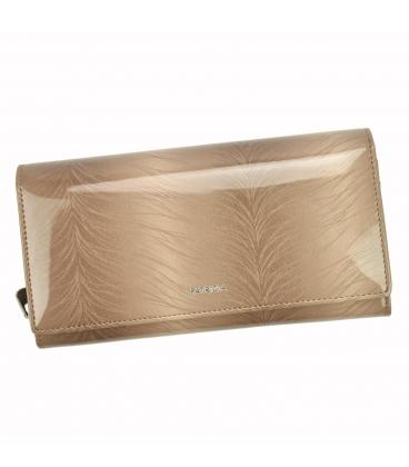 Dámská béžová lakovaná peněženka se vzorem PATRIZIA