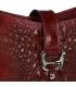 Bordová kožená crossbody kroko kabelka KMPL030 OLIVIA BAG