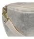 Lesklá béžová crossbody kabelka so zlatým vzorom 20M006
