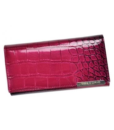 Női rózsaszín-fekete lakkozott GREGORIO pénztárca