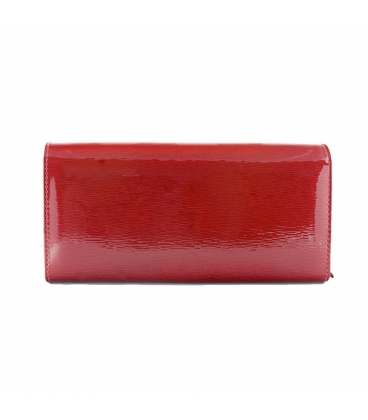 Dámska červeno-čierna lakovaná peňaženka so vzorom MATO GROSSO
