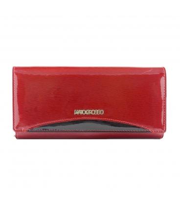 Női vörös-fekete lakkozott pénztárca MATO GROSSO mintával