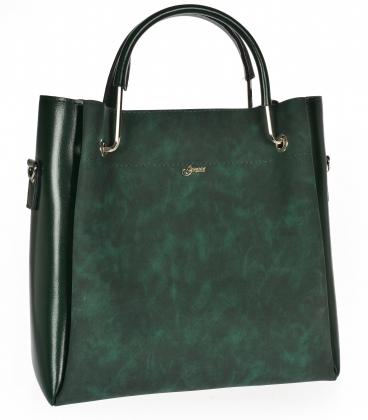 Tmavo zelená elegantná kabelka V18SM085GLD- GROSSO