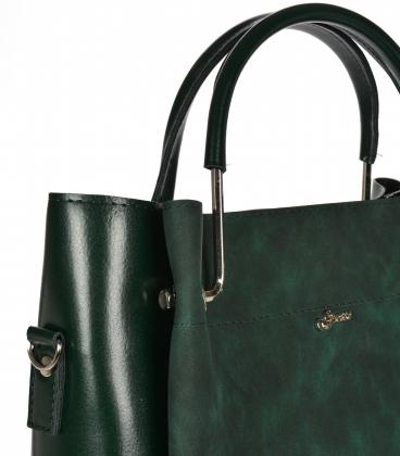 Tmavě zelená elegantní kabelka V18SM085GLDB- GROSSO