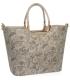 Hnedá trblietavá elegantná vystužená kabelka so vzorom V18SM002 - GROSSO