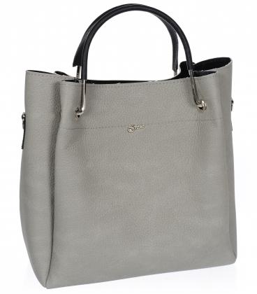 Šedá elegantní kabelka V18SM085grey - GROSSO