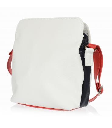 Bielo modro červená malá crossbody kabelka Grosso 20M0066