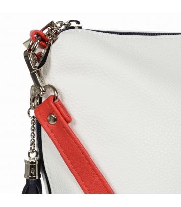 Bielo modro červená malá crossbody kabelka so strpacom Grosso 20M0066