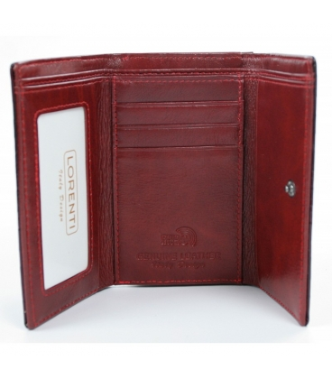 Dámska bordová lakovaná peňaženka s jemným vzorom LORENTI 0208 RED