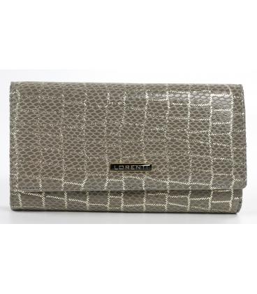 Dámska strieborno-sivá peňaženka 0109GREY LORENTI