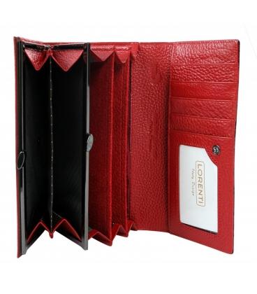 Dámska červno-čierna väčšia peňaženka 0178REDLORENTI