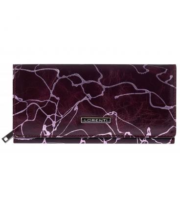 Dámska fialová väčšia peňaženka so vzorom 0178REDLORENTI