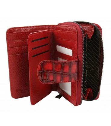 Dámská menší červeno černá peněženka se vzorem 0321RED