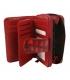 Dámska menšia červeno- čierna peňaženka so vzorom 0321RED