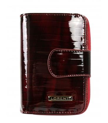 Dámská bordó menší lakovaná peněženka Lorente 0307 Red