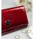 Dámska červená lesklá penženka so vzorom CAVALDI