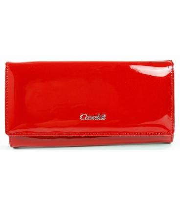 Dámska červená lesklá jednoduchá penženka CAVALDI
