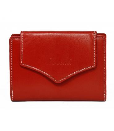 Dámská červená jednoduchá penženka s ozdobným zapínáním Lorente
