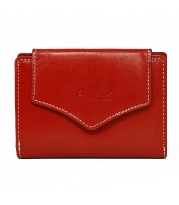 Női piros egyszerű pénztárca dekoratív lorenti rögzítéssel