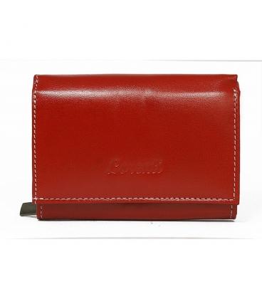 Női piros egyszerű pénztárca fehér lorenti varrással