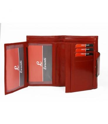 Dámska červená jednoduchá penženka so zadným zapínaním Lorenti