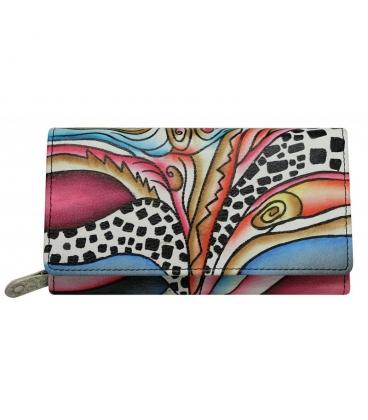 Dámská barevná penženka s abstraktní kresbou Rovickyart