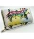 Dámska farebná penženka s kresbou nôt Rovickyart