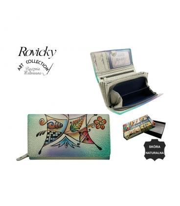 Dámska farebná penženka s kresbou mušlí Rovickyart