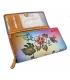 Dámska farebná penženka s kresbou divých kvetín Rovickyart