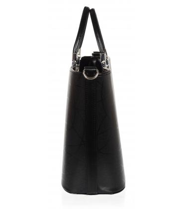 Čierna elegantná jednoduchá vystužená kabelka V21SM001 - GROSSO