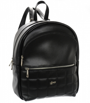 Čierno-strieborný športový ruksak 21B002