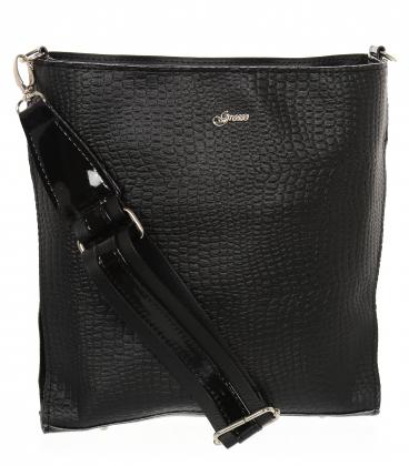 Čierna crossbody kabelka s jemným vzorom JCB0009black