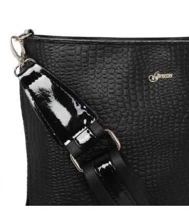 Černá crossbody kabelka s jemným vzorem JCB0009black