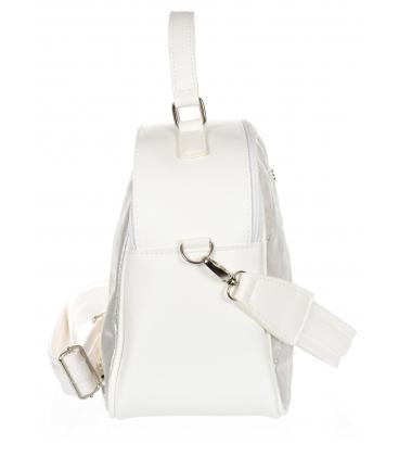 Bielo-strieborná crossbody taška JCB0003WHITESILVER