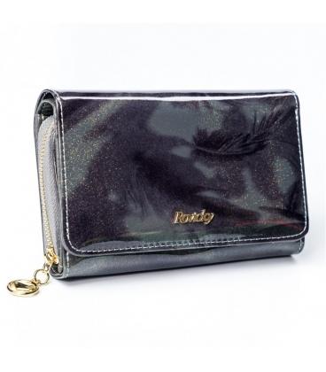 Női bordó kisebb lakkozott pénztárca LORENTI 0307 REd