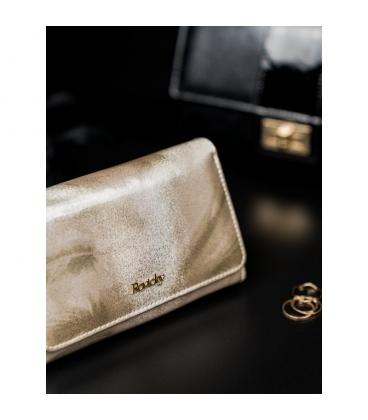 Dámska bordová menšia lakovaná peňaženka LORENTI 0307 RED
