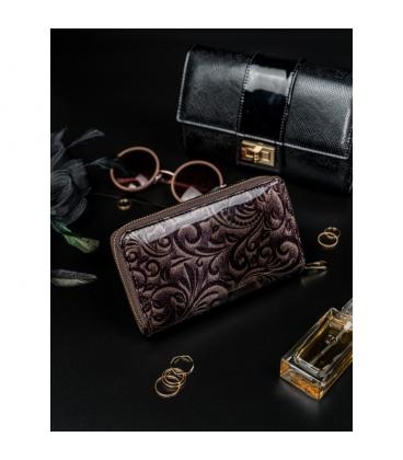Dámska čierna peňaženka s ornamentmi 8808 black