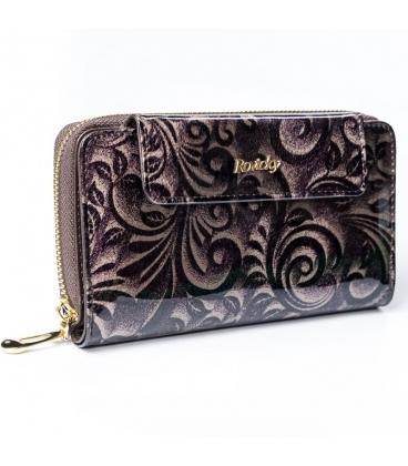 Női fekete pénztárca díszekkel 8808 fekete